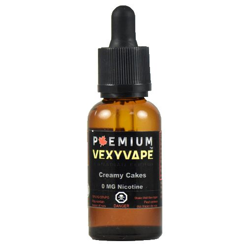VexyVape eLiquid Creamy Cakes - Our Creamy Cakes flavour is as delicious as biting into a fresh Twinkie! This flavour is a must for Twinkie lovers!70% VG