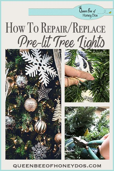 Pre-lit Christmas Tree Lights Repair/Replace - After my pre-lit Christmas  tree's lights started dying, I DIYed it with this solution. - Pre-lit Christmas Tree Lights Repair/Replace Queen Bee Of Honey