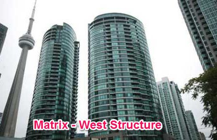 The Matrix – West Structure can be found right at the middle between the heart of Toronto's sports and theatre center – waterfront and downtown Toronto. Designed by Page & Steele Inc., this high-rise condominium building has become the first top-class, innovative structure of the area. Just below the stairs, you can find an RBC while just across the street you can drop at Tim Horton's & Pizza Pizza if you need a quick meal.