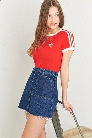 adidas Originals - T-shirt Sandra 1977 rouge