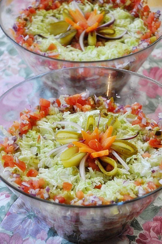 Sałatka warstwowa gyros-kebab