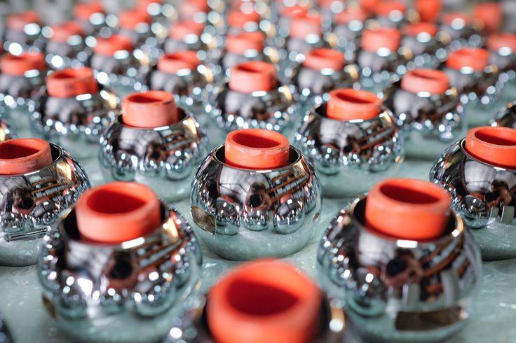 Brass Ball valves back from Chrome plating.