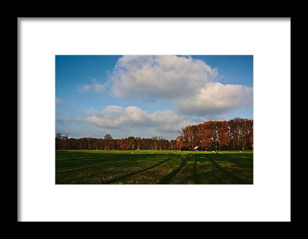 Long shadows, landscape photo as wall art #netherland #Enschede #landscape #photo #photography #gerhardhoogterp #wallart