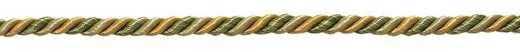 """12 Yard Value Pack of Small Olive Gold Baroque Collection 3/16"""" Decorative Cord Without Lip Style# 316BNLPK Color: GOLDEN OLIVE - 1755 (36 Ft / 11M)"""