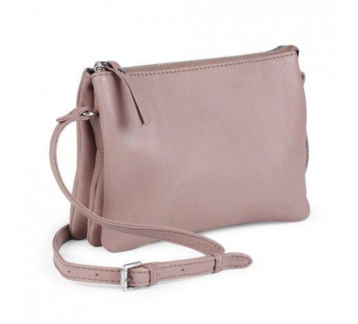 Vera Crossbody Bag in rose leather // Markberg