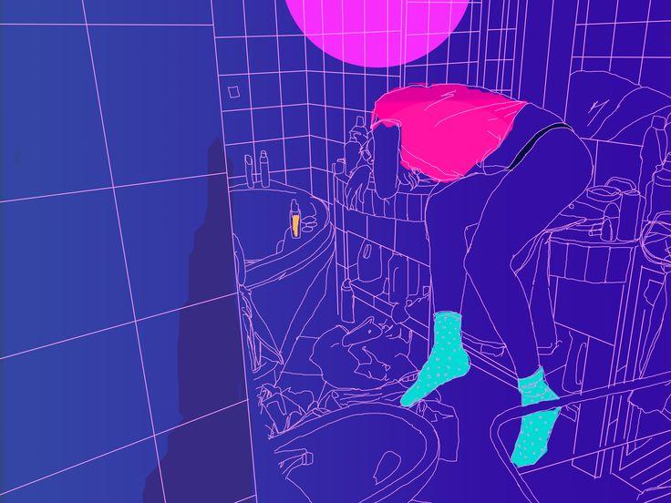 digital minimalist painting, fresh tactics Lucian Hrisav 2016