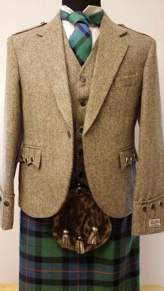 BARVA HARRIS TWEED ARGYLL Kilt Jacket & Vest  4 KILTS were £249 to clear £199  #HARRISTWEED #OtherJackets