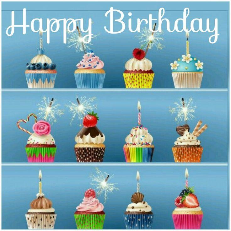 Happy Birthday Greeting cupcakes