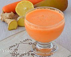 Centrifugato pere carote e zenzero ricetta facile