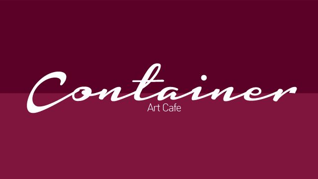 Logotype and corporate id designed by Aggelos Grontas. Container Art Cafe Thessaloniki, Greece