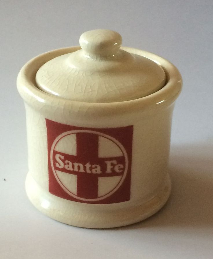 Santa Fe Railroad Dinnerware China Personal Sugar Bowl Dining Car & 16 best Vintage Railroad China Dinnerware images on Pinterest ...