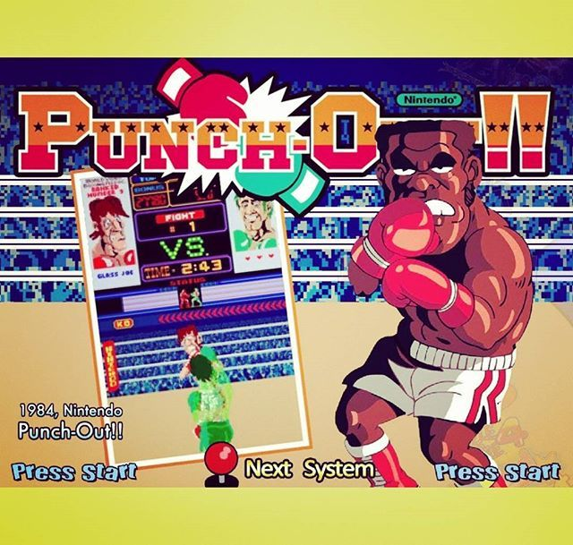 WEBSTA @favoritevideogamessince71 Punch-Out!! (1983 Arcade By Nintendo). Punch-Out!!is aboxingarcade gamebyNintendo, originally released late1983.It was the first in a series of successfulPunch-Out!!games, producing an arcade sequel known asSuper Punch-Out!!, a spin-off of the series titledArm Wrestling, a highly popular version for theNES originally known asMike Tyson's Punch-Out!!, andSuper Punch-Out!!for theSNES.