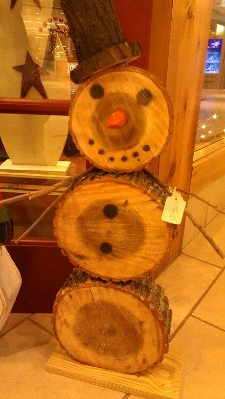 Snowman made from wood circles | Crafts | Pinterest ...