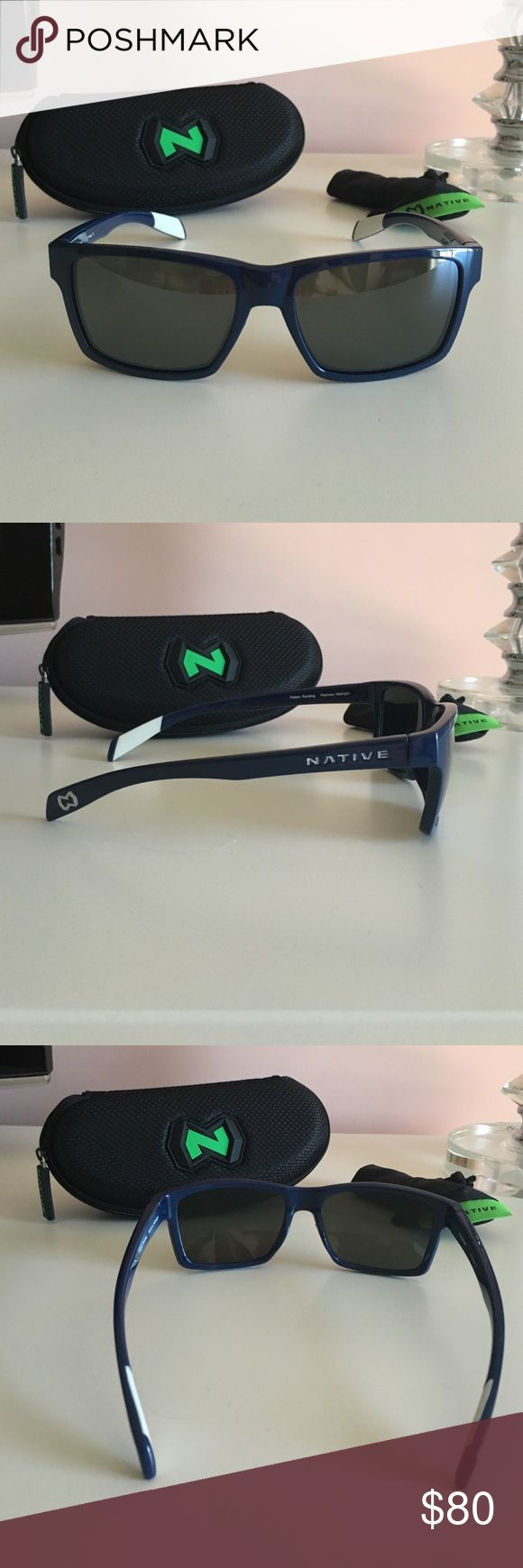 Brand New Navy Blue Native Eyewear Sunglasses Brand New Navy Blue Native Eyewear Sunglasses retail for over $100. native eyewear Accessories Glasses