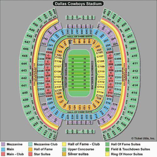 AT&T Stadium Seating Chart