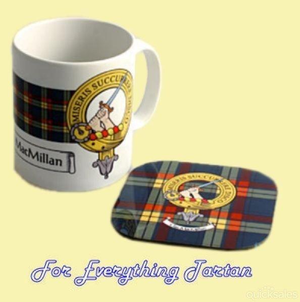 Clan Crest Tartan Badge Ceramic Mug And Wooden Coaster Gift Set by JMB7339 - $35.00