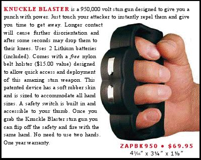 C8. Stun Knuckles Stun Gun - Security - Spy Gadgets R Us - Spy Gadgets in Phoenix, AZ- No explanation needed...Only $69.95! http://spy-gadgets-r-us.com   OR http://spygadgetsrus.com