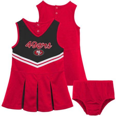 NFL San Francisco 49ers Girls Cheerleader Set, Size: Small, Red