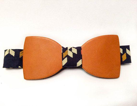 Leather bow tie - noeud papillon cuir - www.lebeautie.com