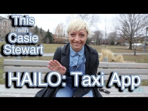 THIS with Casie Stewart: HAILO Taxi App!  Learn how this app with help you save time & energy while traveling around the city!