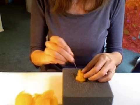 video tutorial on felting wool