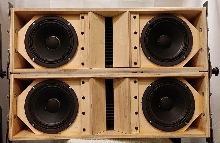 Plans To Build La206 Dual 6 5 Line Array Speaker Cabinet 1823535511 Speaker Plans Speaker Box Design Speaker Projects
