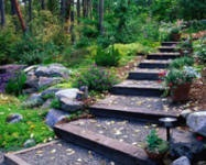 """This is a shallow set of steps - more platforms than steps from """"Gardening in the Country"""""""