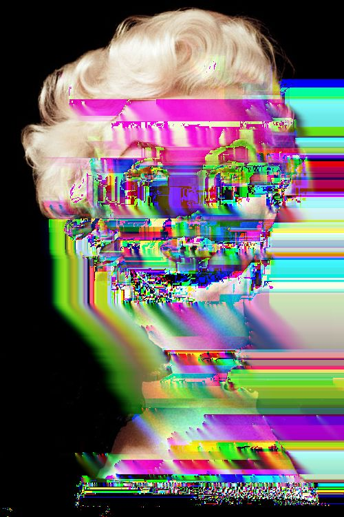 [OC] My first attempt at glitch art. As my friend called it, Marilyn Missingno. - Imgur