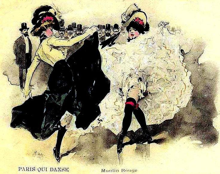 Série de pages sur le French Cancan