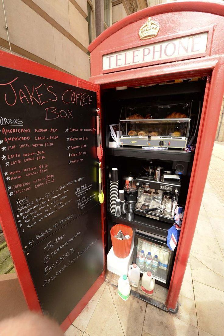 Jake's Coffee Box next to Birmingham Council House - Birmingham's smallest coffee shop.