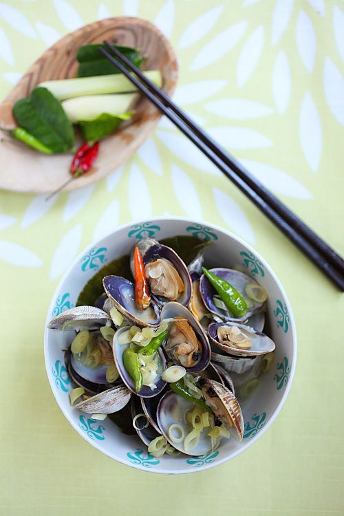 Thai-style Steamed Clams | Recipe | Steamed Clams and Clams