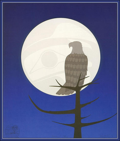 I have so many Roy Henry Vickers pieces, but this one, Eagle Moon, is one of my favorites.