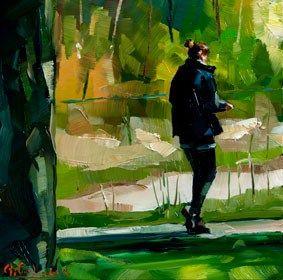 """Fresh green"" - Original Fine Art for Sale - © Edward B. Gordon"