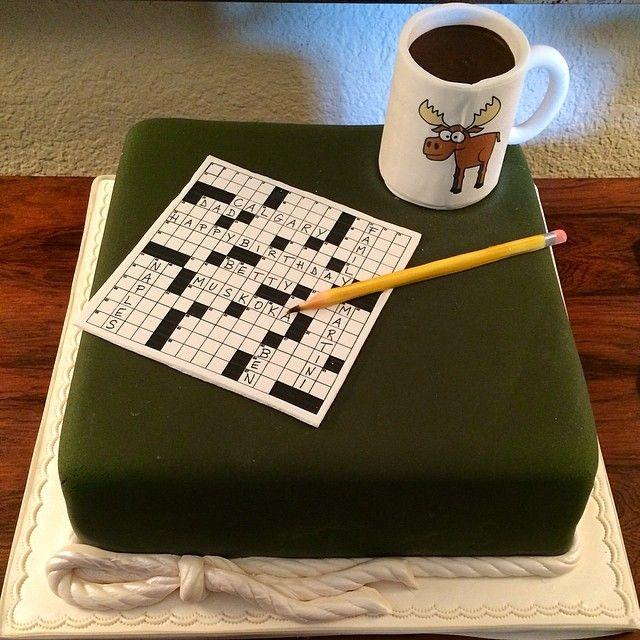 90th Birthday celebrations! Crossword Puzzle Cake!