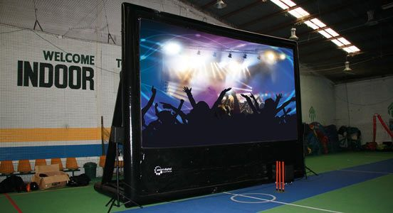 BigTime Entertainment package is to entertain with ease at big indoor spaces. Inflate the screen, plug the projector and the speakers, and hit PLAY!