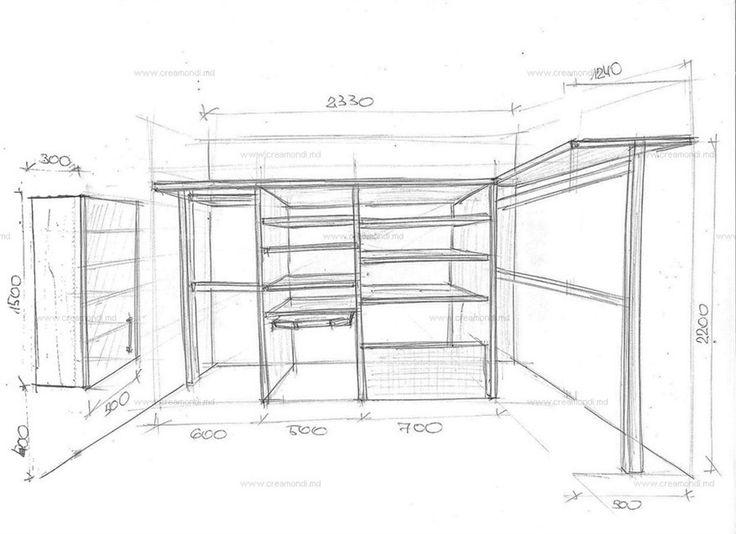 Небольшая гардеробная комната.