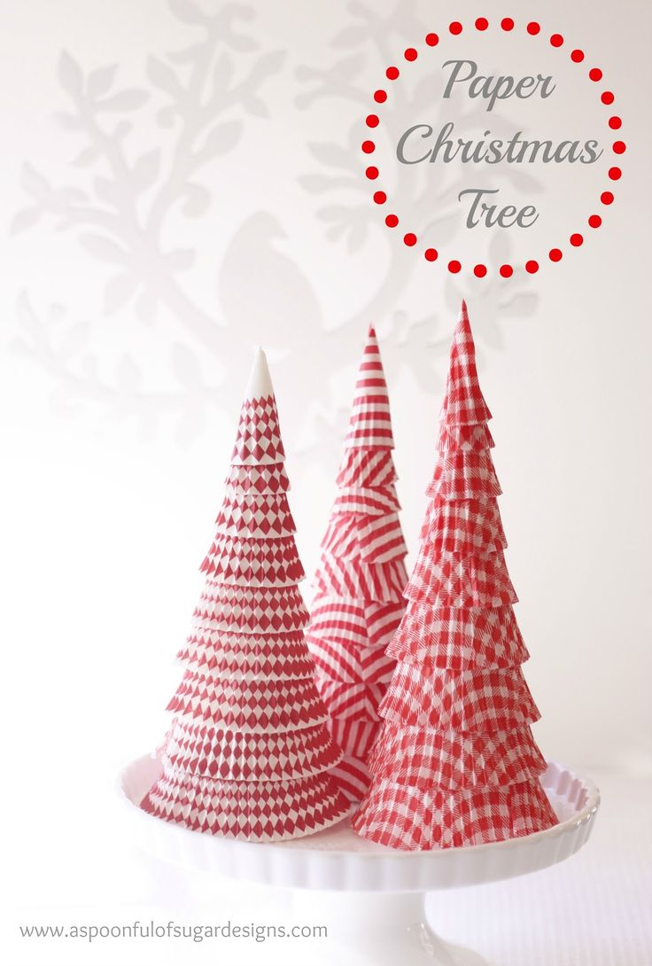 diy: paper tree out of cupcake liners