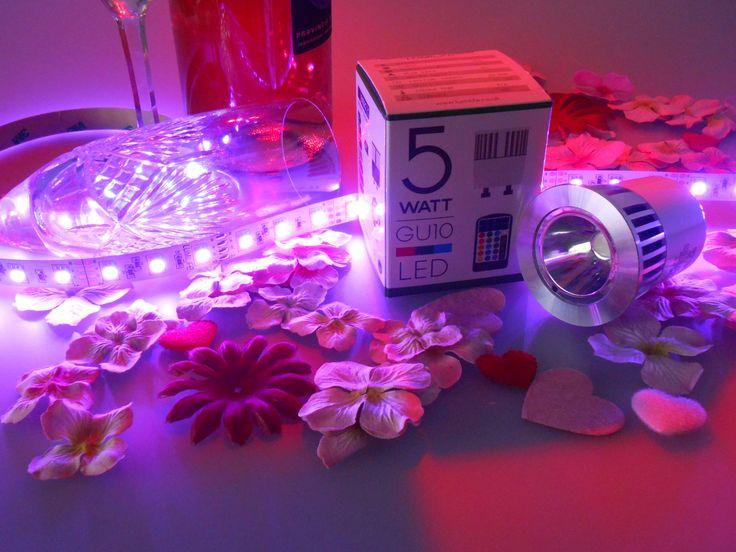 Create mood lighting with easy to use plug & play strip kits
