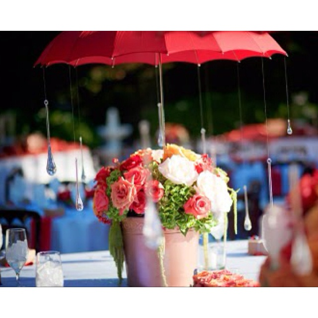 Raindrop Umbrella Centerpiece