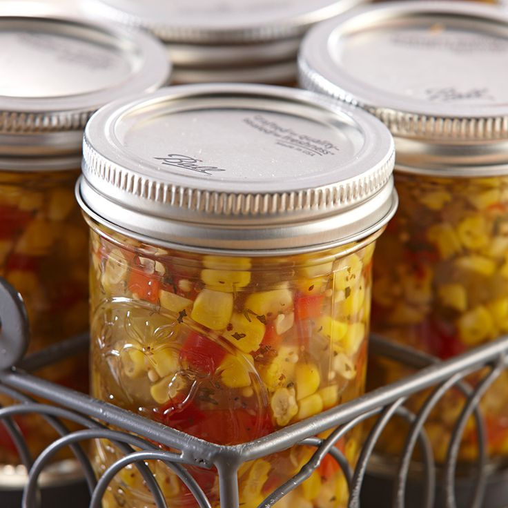 Enjoy the flavor of fresh picked corn all year long by capturing it in this colorful, canned relish.