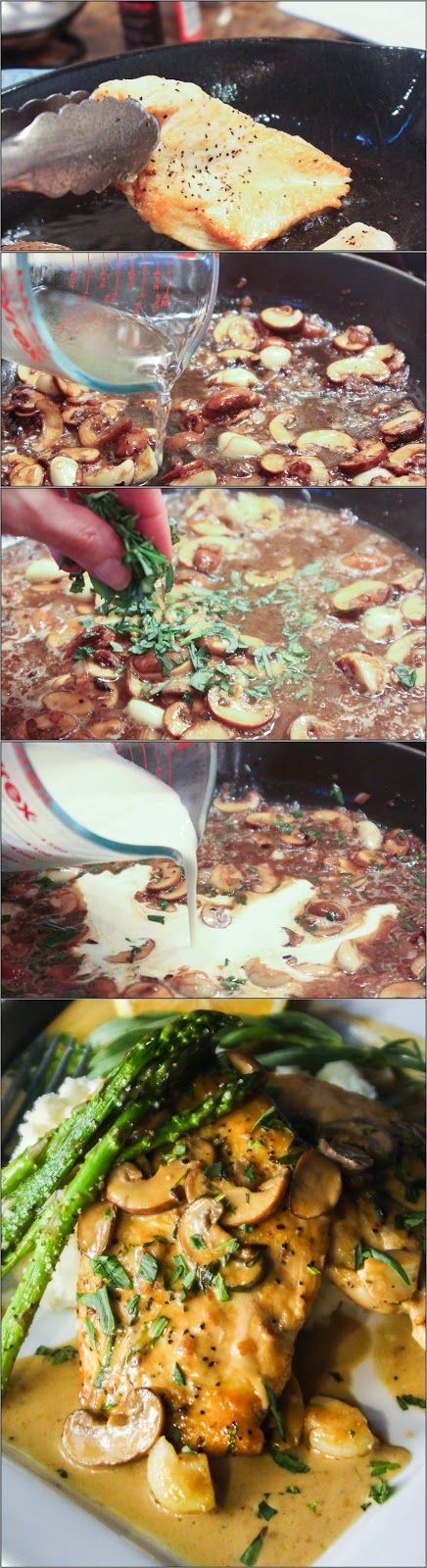 Menu Musings of a Modern American Mom: Pan Seared Chicken in Tarragon Cream Sauce | Tastefulonly