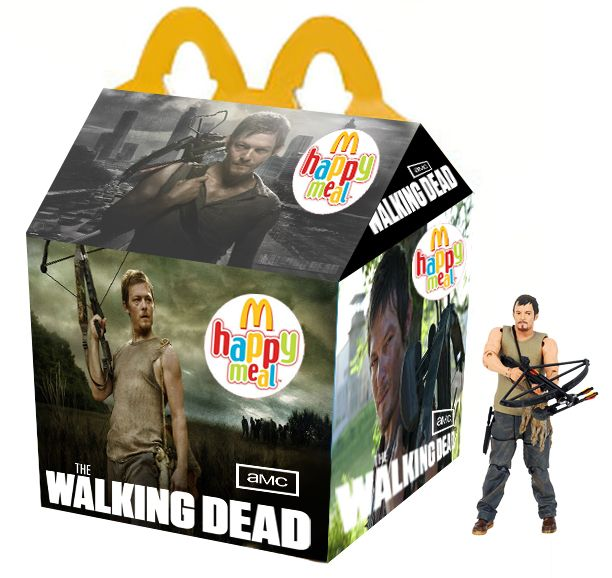 """The Walking Dead"" Happy Meal: Thewalkingdead, Happy Meals, Norman Reedus, Daryl Dixon, Zombie, The Walking Dead, Dead Happy, Twd"
