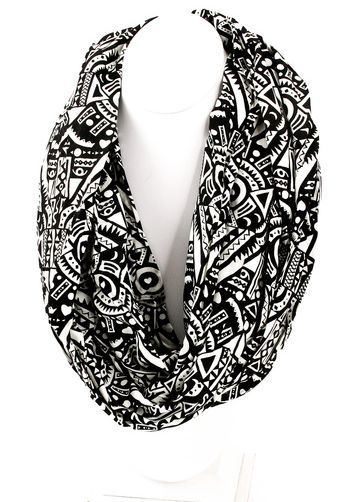 Antique Print Infinity Scarf