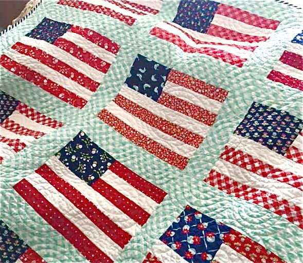 Stars and Stripes Lap Size Quilt Flag Throw Quilt Handmade Custom Order Moda Fabrics Patriotic Quilt Navy Blue Red White by biggiwink on Etsy https://www.etsy.com/listing/468046616/stars-and-stripes-lap-size-quilt-flag