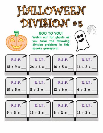 Worksheets: Halloween Division #5