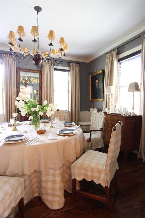 Slipcovers And Seat Skirts For Dining Room Chairs