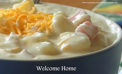 Welcome Home: ♥ Thick and Creamy Potato Soup and Ham