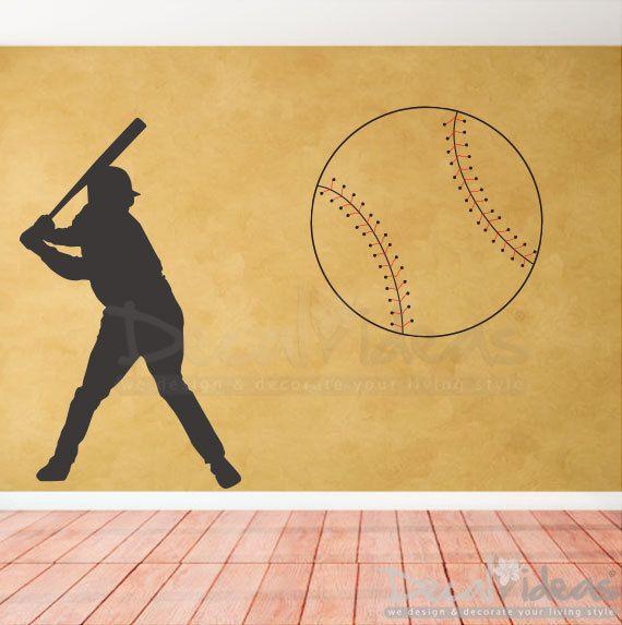 Best KIDS BEDROOM BOYS Images On Pinterest - Vinyl vinyl wall decals baseball