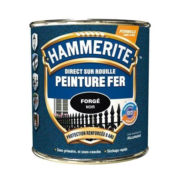 Peinture Hammerite Fer Forge 2 5 L Noir Peinture Fer Peinture