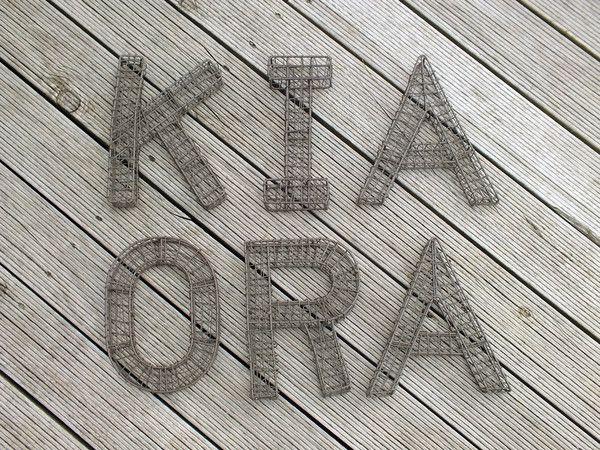 $90 Kia Ora Wire letters